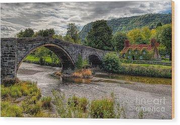 Pont Fawr 1636 Wood Print by Adrian Evans