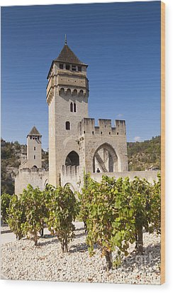 Pont Valentre Cahors Midi-pyrenees France Wood Print by Colin and Linda McKie