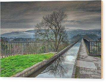 Pontcysyllte Aqueduct Wood Print by Adrian Evans