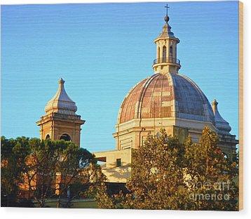 Ponte Milvio Roma Wood Print