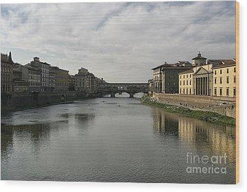 Ponte Vecchio Wood Print by Belinda Greb