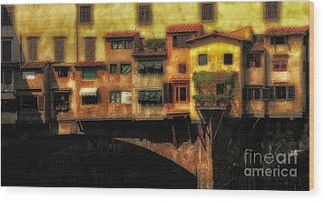Ponte Vecchio Firenze Wood Print by Mike Nellums