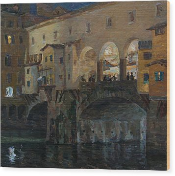 Ponte Vecchio Wood Print by Korobkin Anatoly