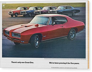 Pontiac Gto - 1964 1965 1966 1967 1968 Wood Print by Digital Repro Depot