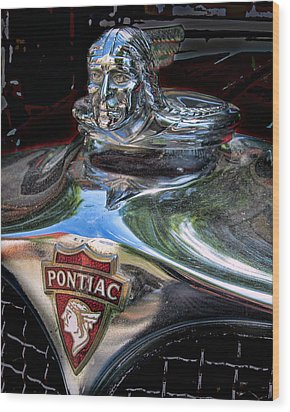 Pontiac Hood Ornament Wood Print by Victor Montgomery