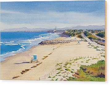 Ponto Beach Carlsbad California Wood Print