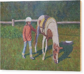 Pony Wood Print by Terry Perham