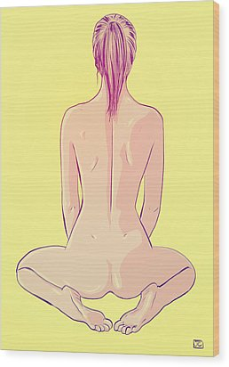 Ponytail Wood Print by Giuseppe Cristiano