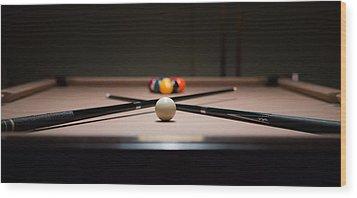 Pool Time Wood Print by Mike Lee