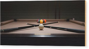 Pool Time Wood Print
