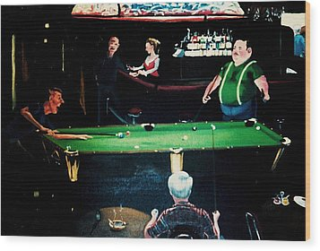 Pooling Around Wood Print by Susan Roberts