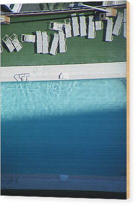 Poolside Upside Wood Print by Brian Boyle