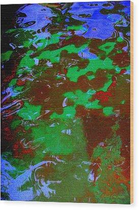 Poolwater Abstract Wood Print by Deborah  Crew-Johnson