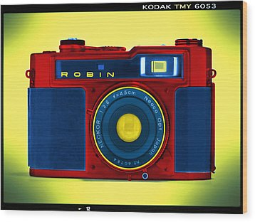 Pop Art Robin Wood Print by Mike McGlothlen
