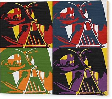 Pop Art Vader Wood Print