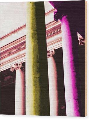 Pop Columns Wood Print