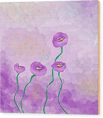 Pop Of Purple Wood Print by Brenda Bryant