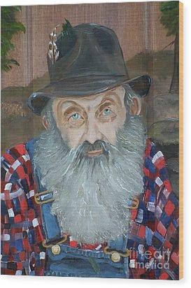 Popcorn Sutton - Moonshiner - Portrait Wood Print