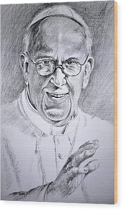 Pope Franciscus Wood Print