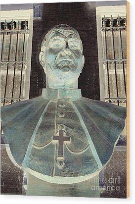 Pope John Paul The Second Wood Print by Ed Weidman