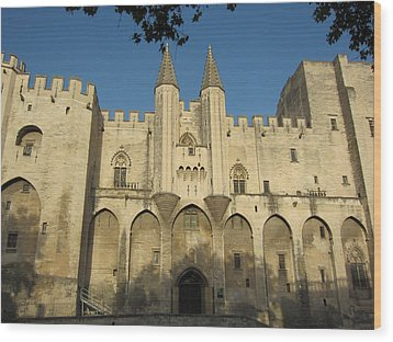 Popes Palace In Avignon Wood Print by Pema Hou