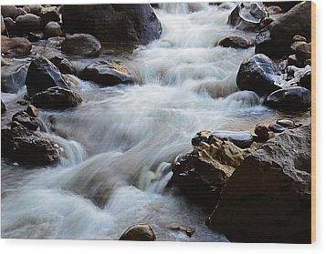 Popo Agie Flow Wood Print