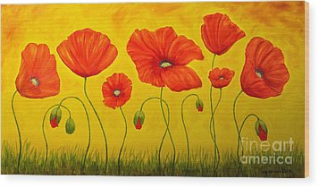 Poppies At The Time Of Wood Print by Veikko Suikkanen