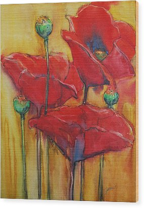 Poppies IIi Wood Print