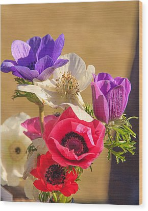Wood Print featuring the photograph Poppies by Patricia Schaefer