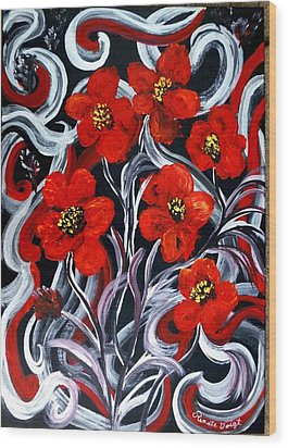 Poppies???? Wood Print