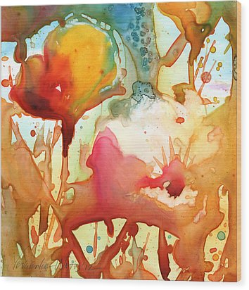 Poppies Wood Print by Yevgenia Watts