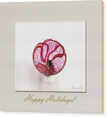Poppy. Happy Holidays Wood Print by Oksana Semenchenko