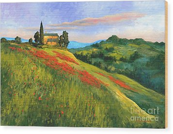 Poppy Hill Wood Print by Michael Swanson