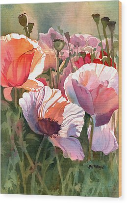 Poppy Madness Wood Print by Kris Parins