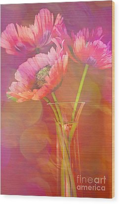 Poppy Passion Wood Print by Jan Bickerton