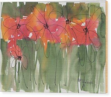 Poppy To Posy Wood Print