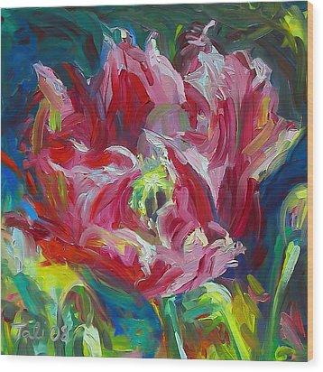Poppy's Secret  Wood Print by Talya Johnson