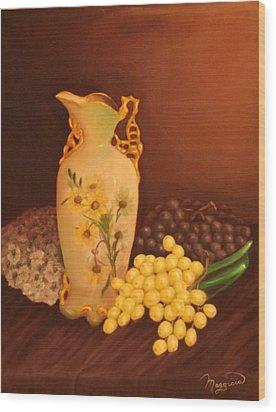Porcelain Vase Wood Print by Lou Magoncia