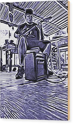 Wood Print featuring the photograph Porch Pickin by Bartz Johnson