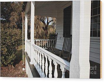 Porch View Wood Print by John Rizzuto