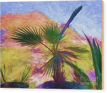 Porche De Palma Wood Print