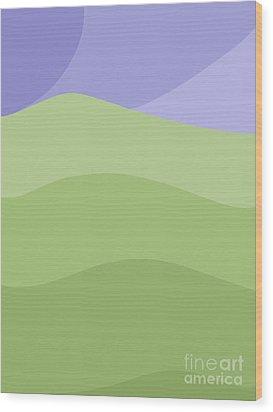 Porirua Hillside Wood Print