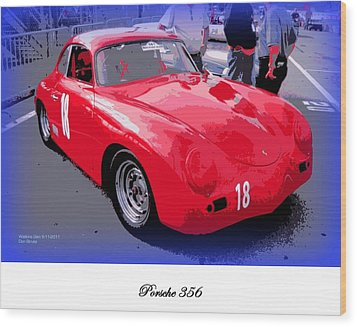 Porsche 356 Wood Print by Don Struke