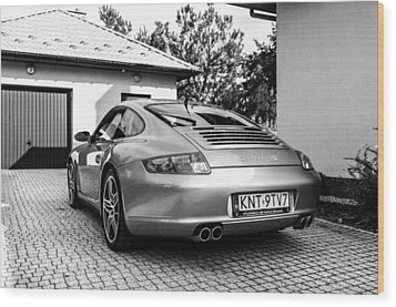 Porsche 911 Carrera 4s Wood Print by Tgchan