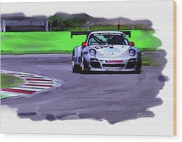 Porsche 911 Gt3 Wood Print