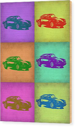 Porsche 911 Pop Art 2 Wood Print by Naxart Studio
