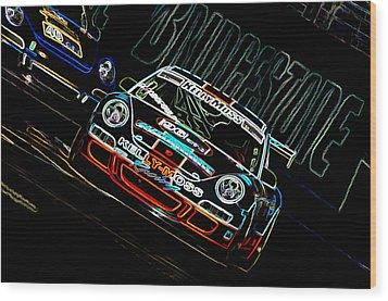Porsche 911 Racing Wood Print