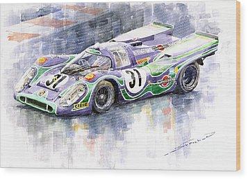 Porsche 917 K Martini Racing 1970 Wood Print by Yuriy  Shevchuk
