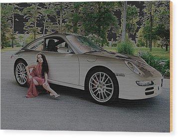 Porsche Chromatic Wood Print by Paul Wash
