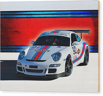 Porsche Gt3 Martini Wood Print